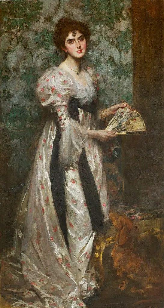 画家笔下苗条的女子,美丽优雅!英裔美国画家James Jebusa Shannon插图26