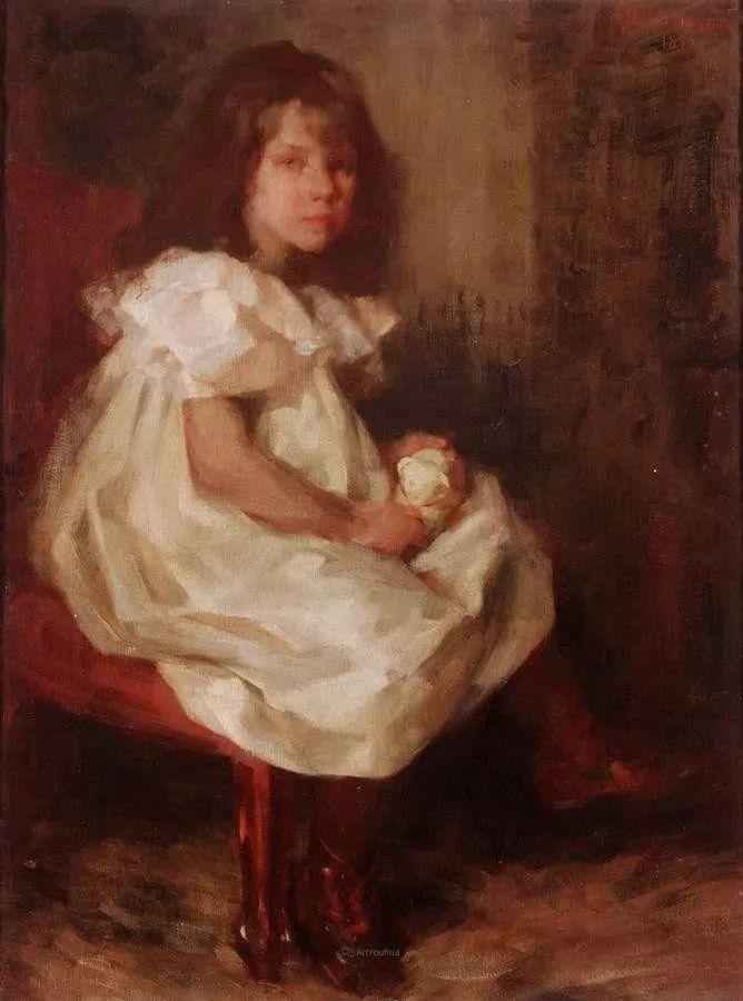 画家笔下苗条的女子,美丽优雅!英裔美国画家James Jebusa Shannon插图27
