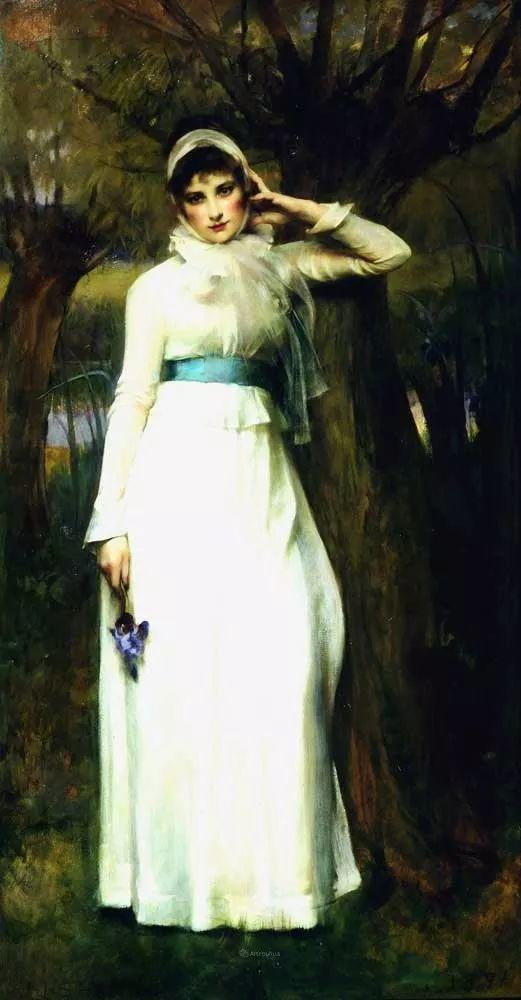 画家笔下苗条的女子,美丽优雅!英裔美国画家James Jebusa Shannon插图29