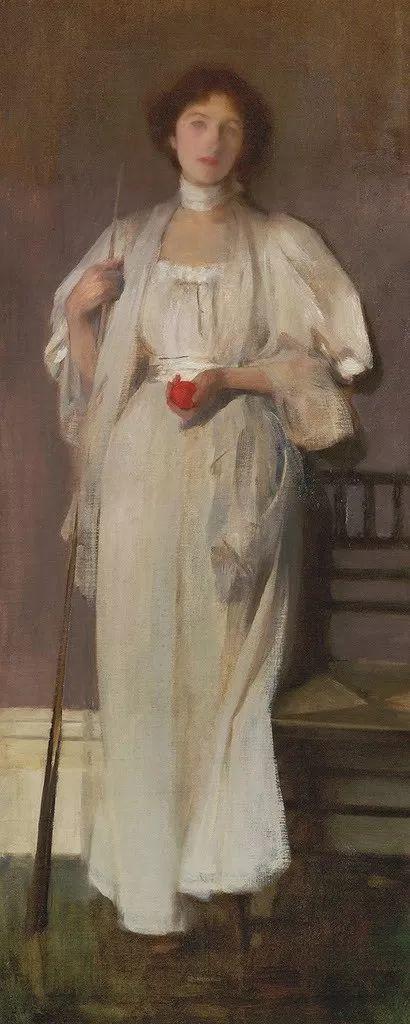 画家笔下苗条的女子,美丽优雅!英裔美国画家James Jebusa Shannon插图30