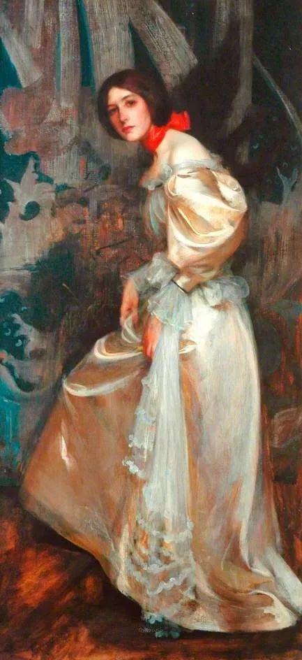 画家笔下苗条的女子,美丽优雅!英裔美国画家James Jebusa Shannon插图31