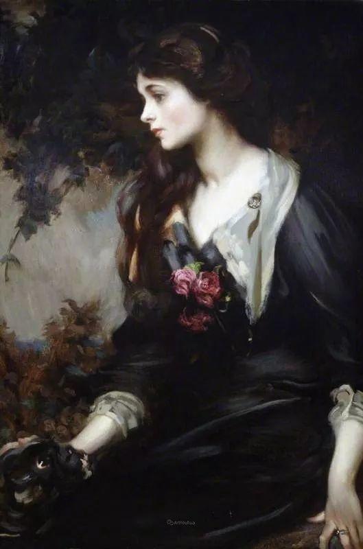 画家笔下苗条的女子,美丽优雅!英裔美国画家James Jebusa Shannon插图32