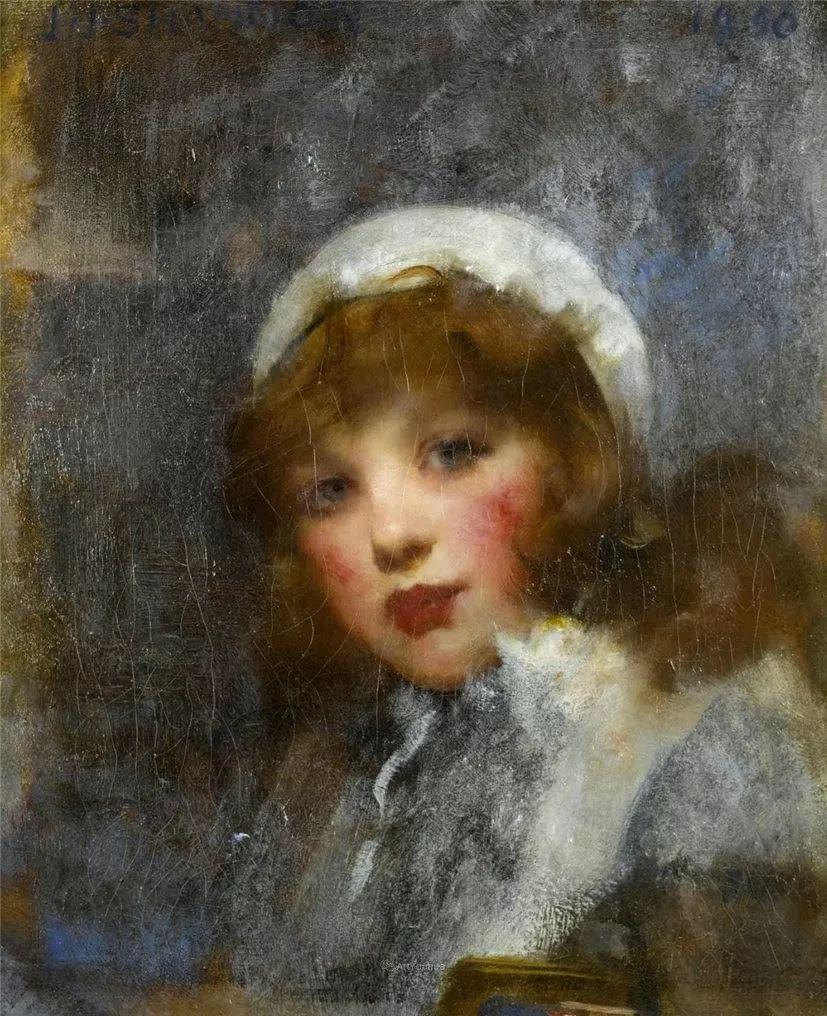 画家笔下苗条的女子,美丽优雅!英裔美国画家James Jebusa Shannon插图34