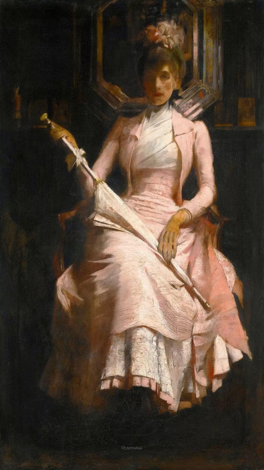画家笔下苗条的女子,美丽优雅!英裔美国画家James Jebusa Shannon插图37