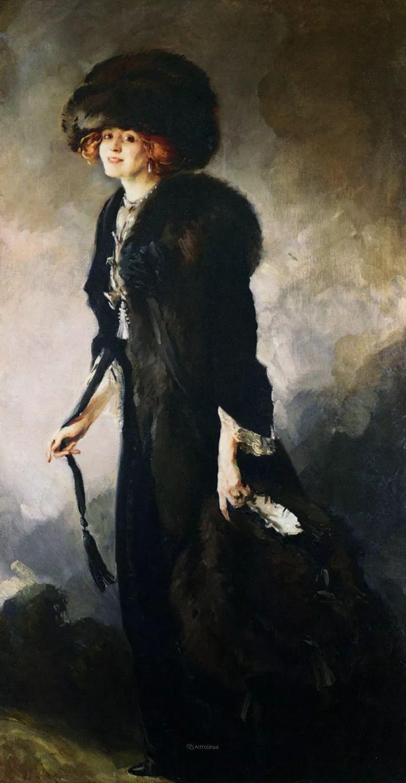 画家笔下苗条的女子,美丽优雅!英裔美国画家James Jebusa Shannon插图38