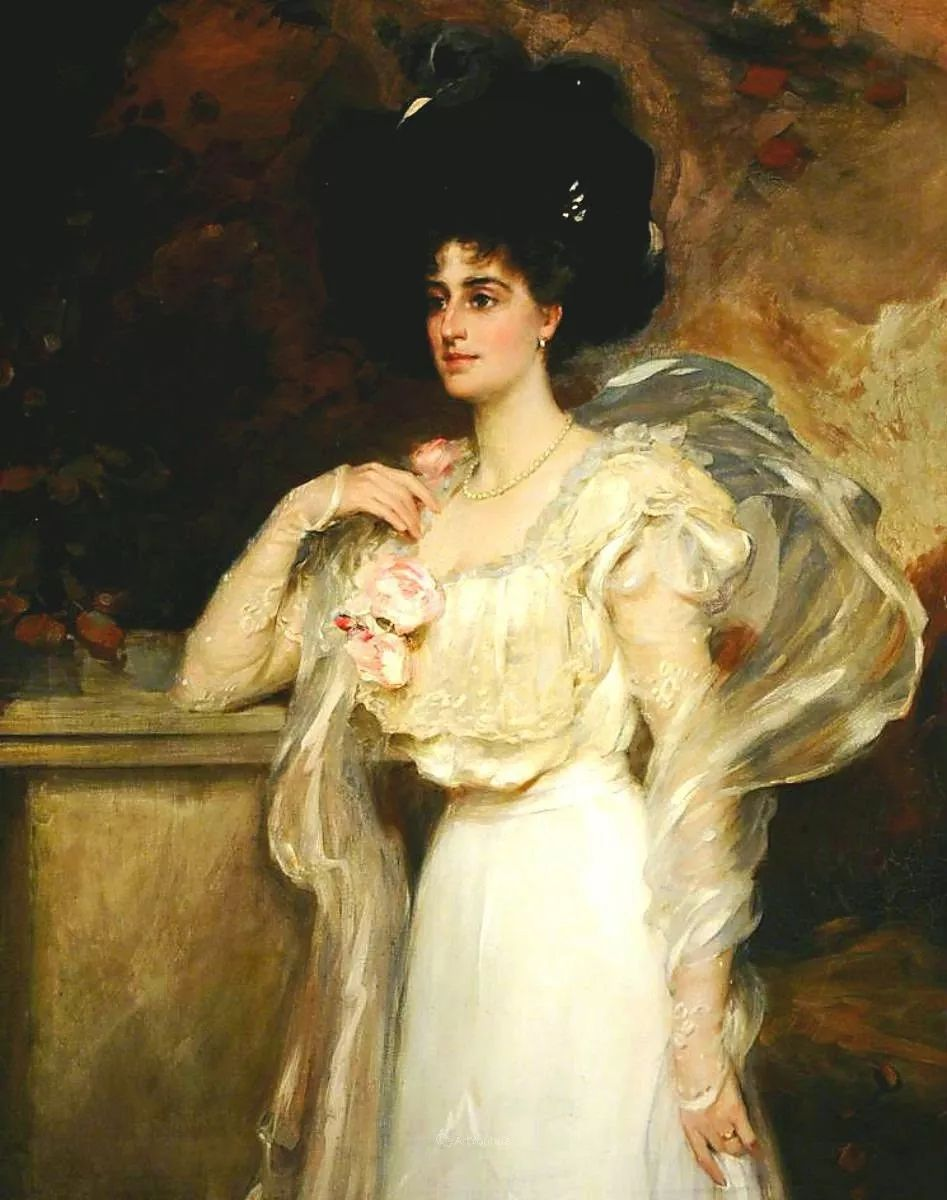 画家笔下苗条的女子,美丽优雅!英裔美国画家James Jebusa Shannon插图39