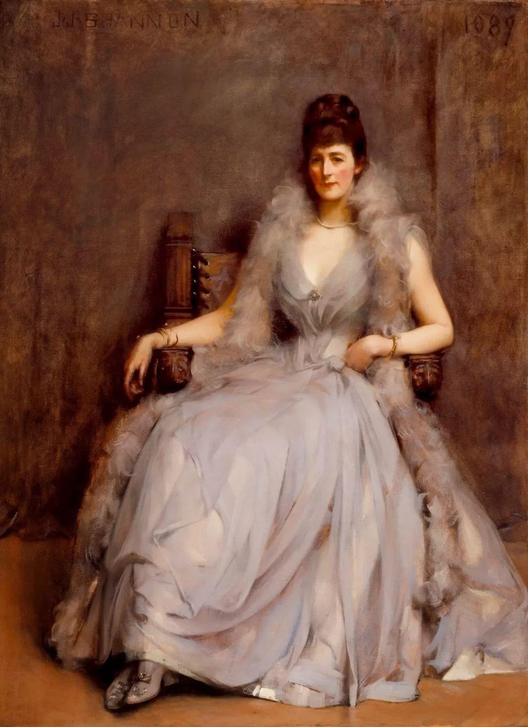 画家笔下苗条的女子,美丽优雅!英裔美国画家James Jebusa Shannon插图41