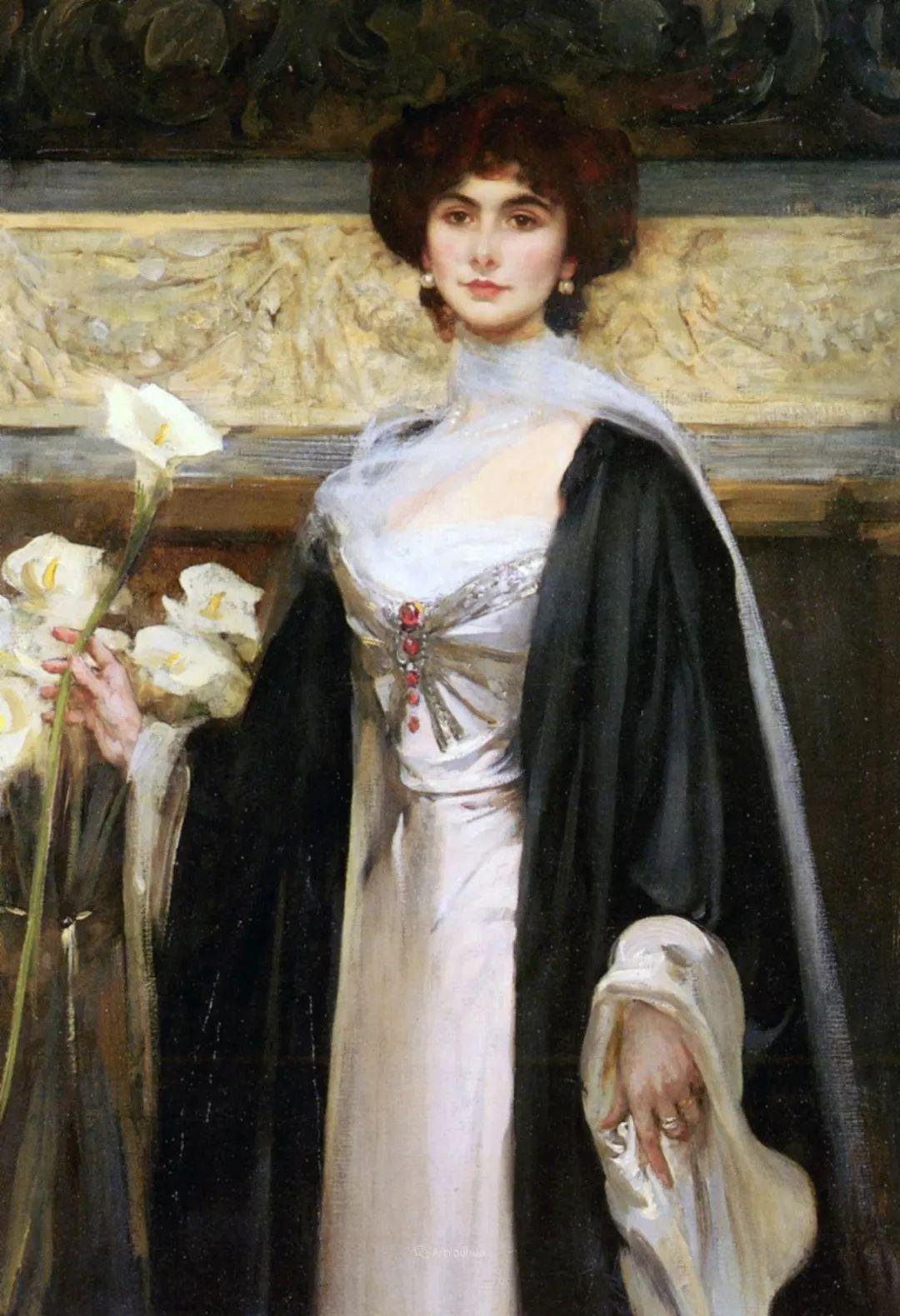 画家笔下苗条的女子,美丽优雅!英裔美国画家James Jebusa Shannon插图42