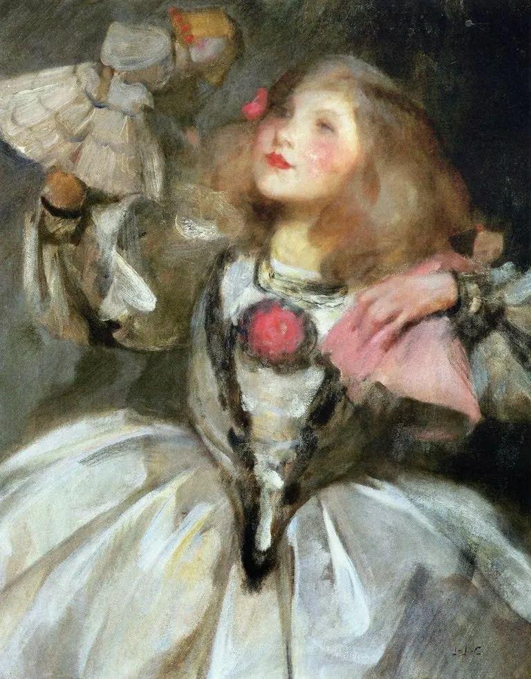 画家笔下苗条的女子,美丽优雅!英裔美国画家James Jebusa Shannon插图45