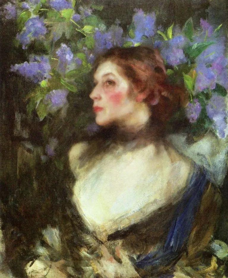 画家笔下苗条的女子,美丽优雅!英裔美国画家James Jebusa Shannon插图46