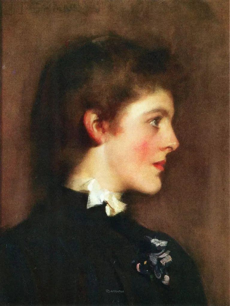 画家笔下苗条的女子,美丽优雅!英裔美国画家James Jebusa Shannon插图47