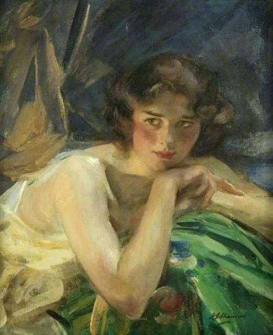 画家笔下苗条的女子,美丽优雅!英裔美国画家James Jebusa Shannon插图50