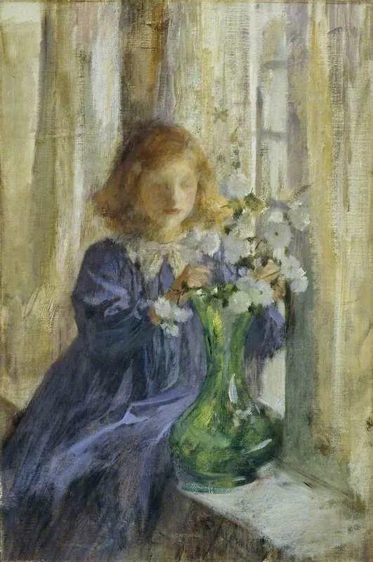 画家笔下苗条的女子,美丽优雅!英裔美国画家James Jebusa Shannon插图51