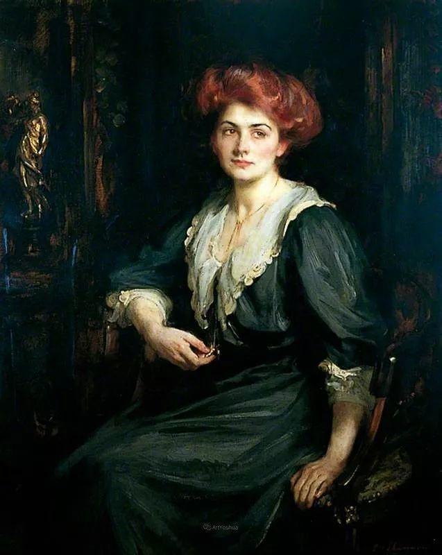 画家笔下苗条的女子,美丽优雅!英裔美国画家James Jebusa Shannon插图56