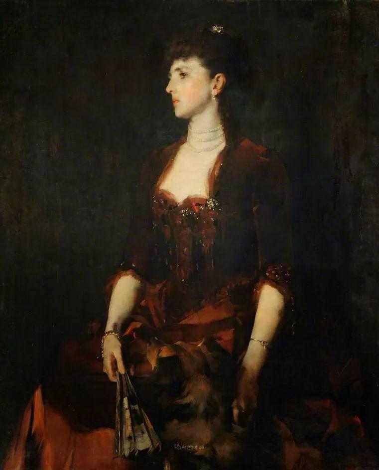 画家笔下苗条的女子,美丽优雅!英裔美国画家James Jebusa Shannon插图58