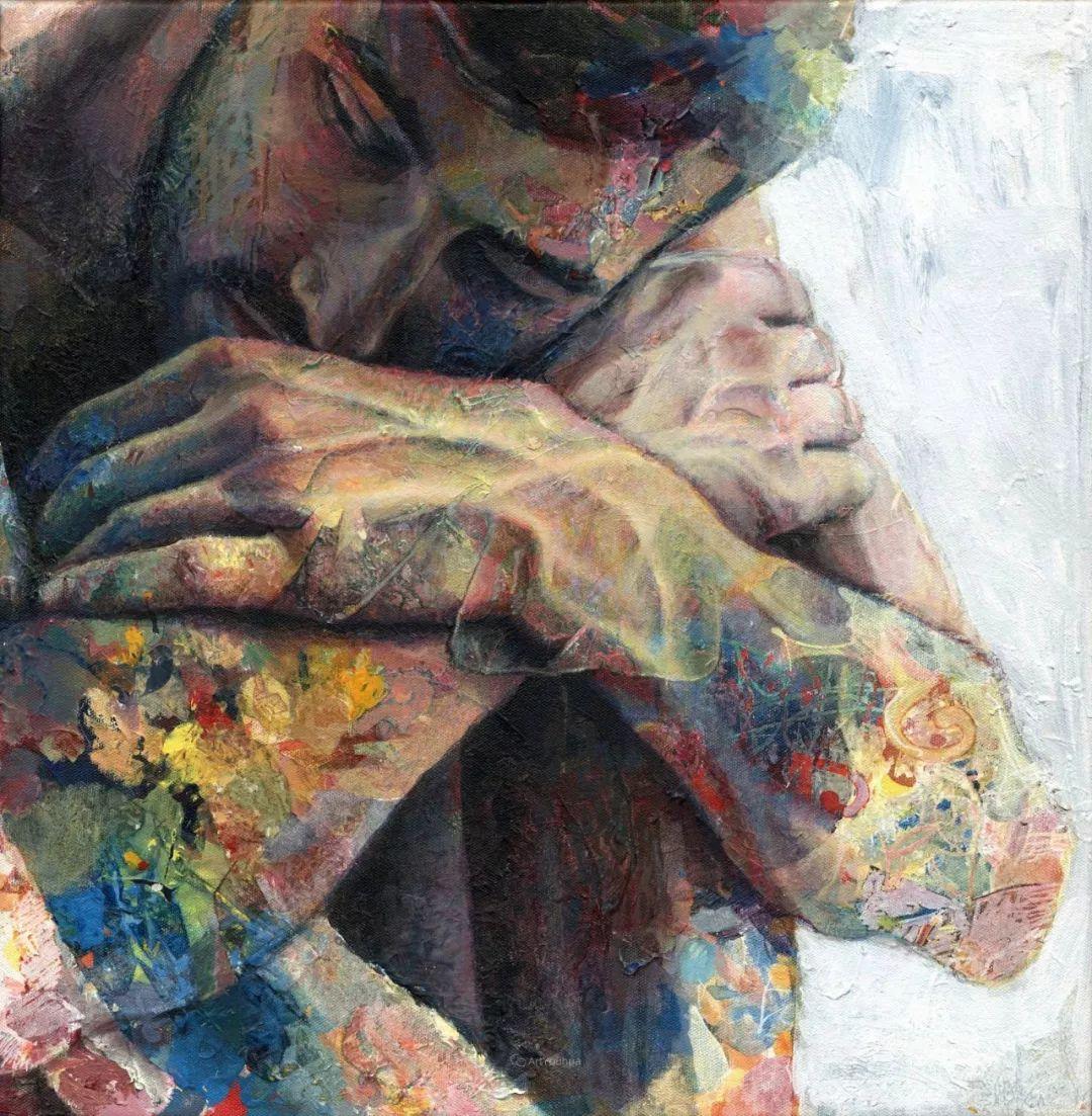 厚重笔触下的缤纷色彩,英国画家David Agenjo插图