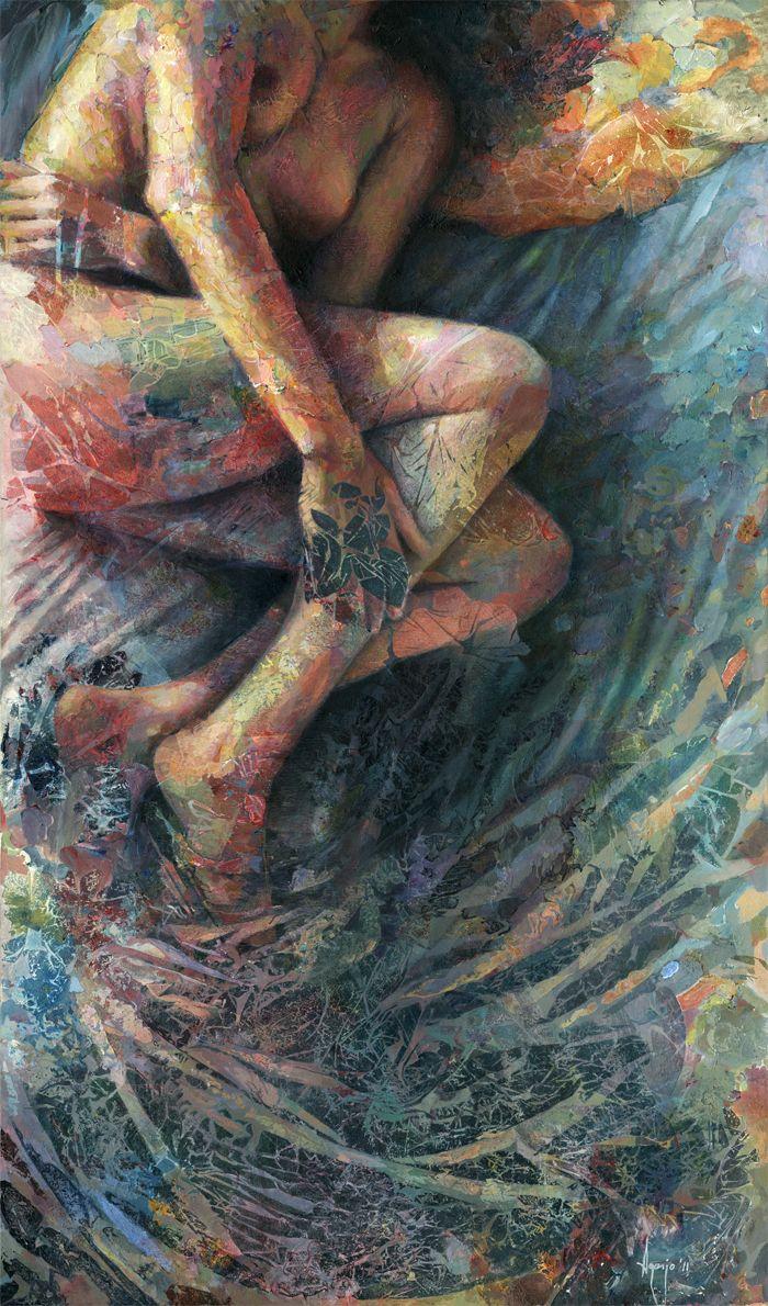 厚重笔触下的缤纷色彩,英国画家David Agenjo插图1