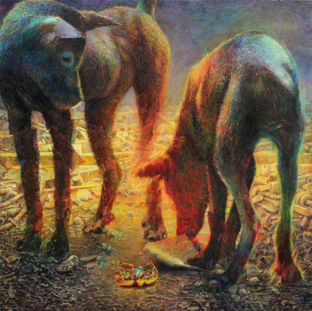 厚重笔触下的缤纷色彩,英国画家David Agenjo插图2