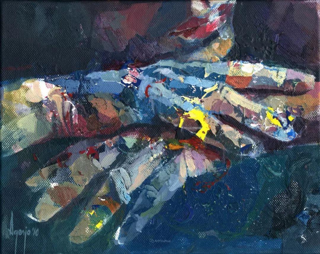 厚重笔触下的缤纷色彩,英国画家David Agenjo插图10
