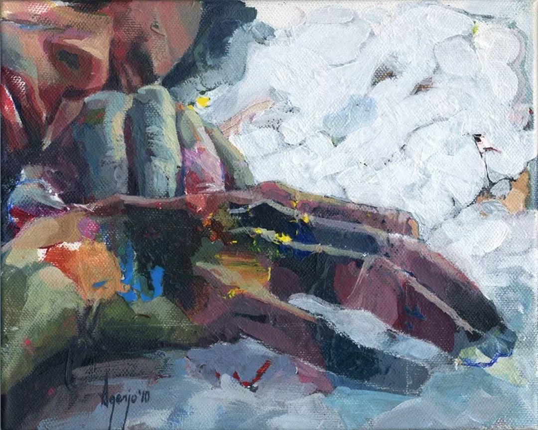 厚重笔触下的缤纷色彩,英国画家David Agenjo插图11