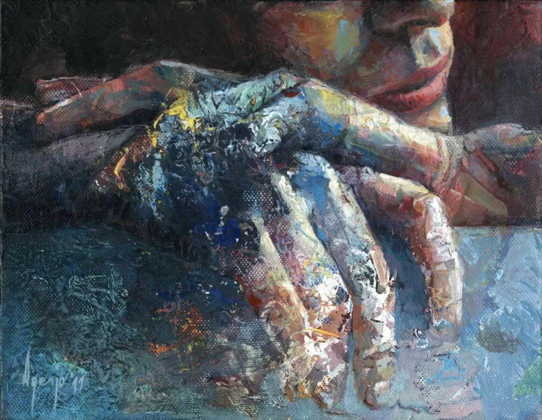 厚重笔触下的缤纷色彩,英国画家David Agenjo插图12