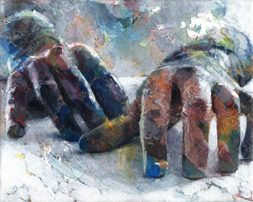 厚重笔触下的缤纷色彩,英国画家David Agenjo插图14