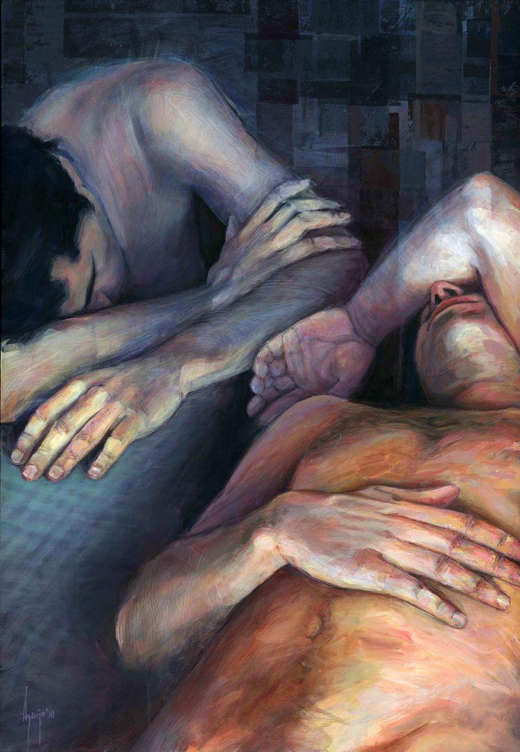 厚重笔触下的缤纷色彩,英国画家David Agenjo插图16