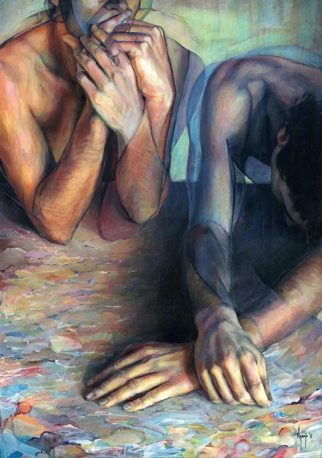 厚重笔触下的缤纷色彩,英国画家David Agenjo插图17