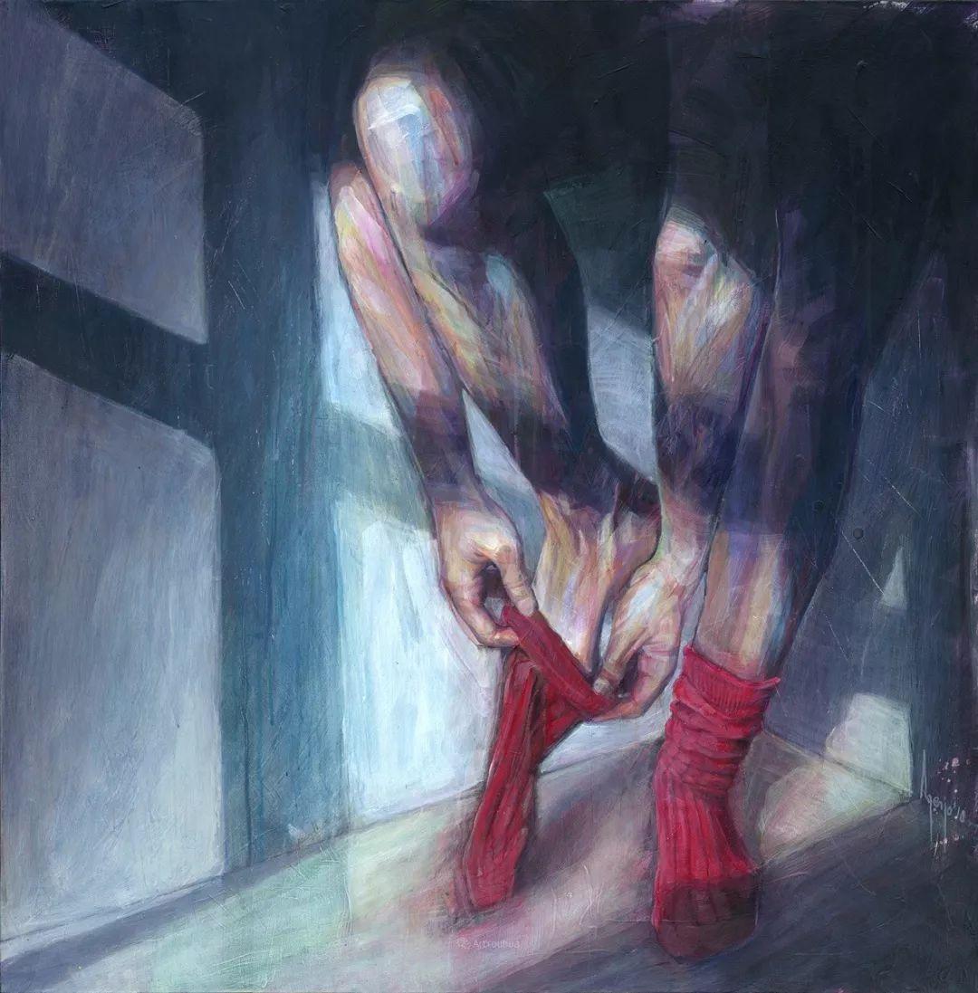 厚重笔触下的缤纷色彩,英国画家David Agenjo插图33