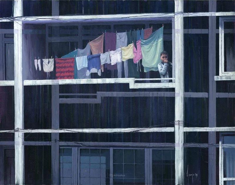 厚重笔触下的缤纷色彩,英国画家David Agenjo插图36