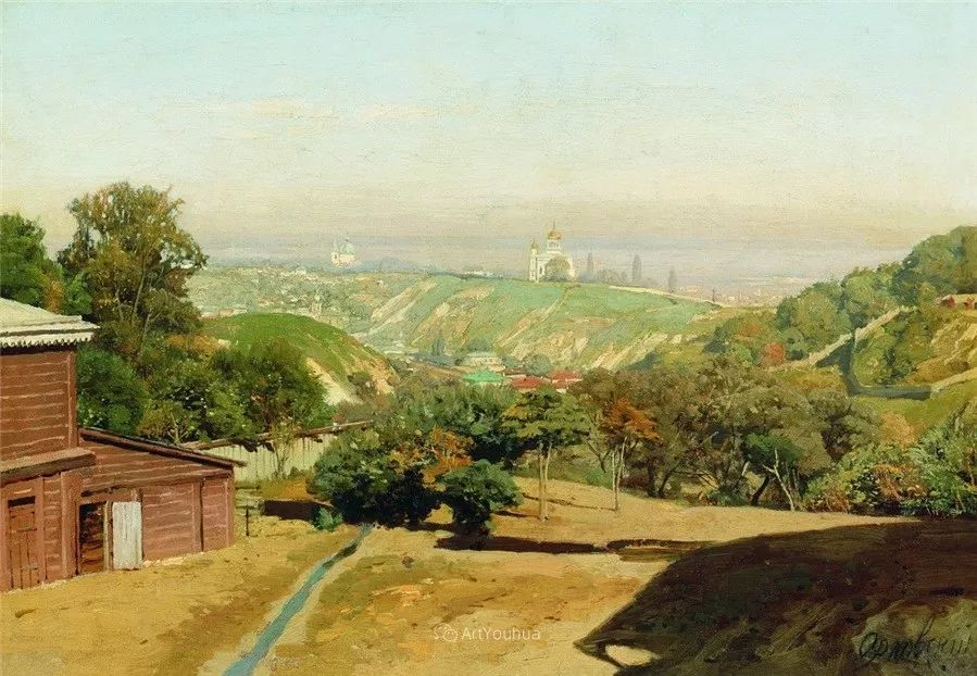 写实风景,乌克兰画家Vladimir Donatovich Orlovsky作品二插图1