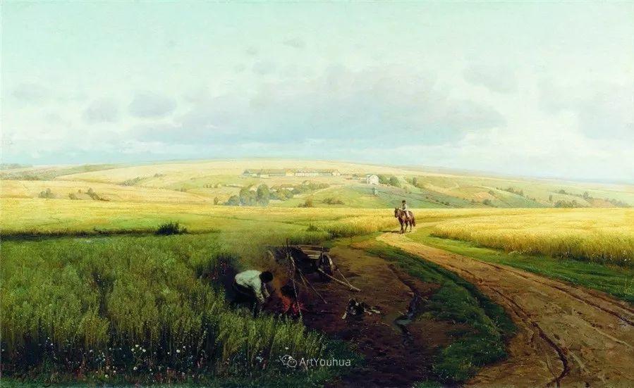 写实风景,乌克兰画家Vladimir Donatovich Orlovsky作品二插图11
