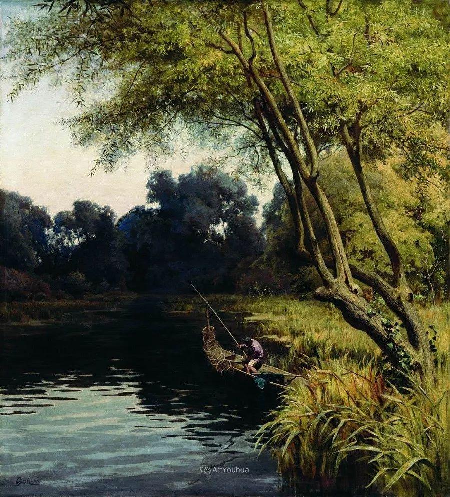 写实风景,乌克兰画家Vladimir Donatovich Orlovsky作品二插图18