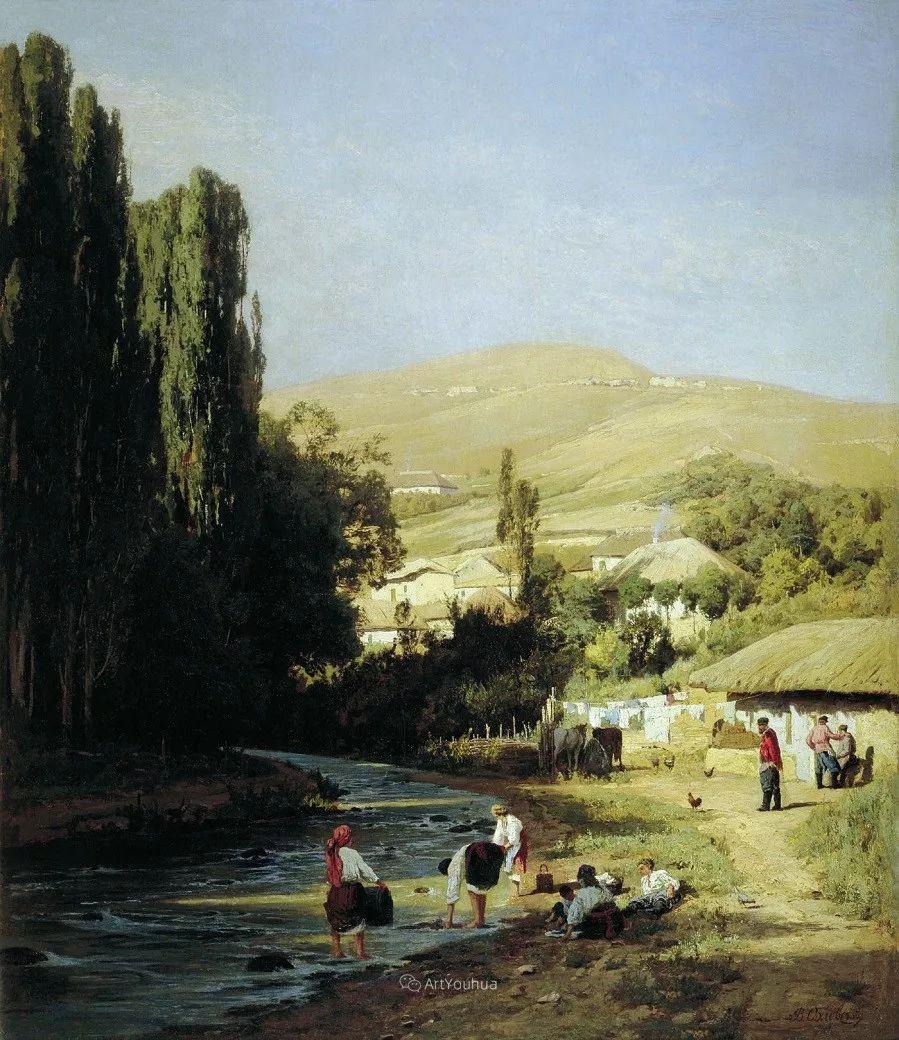 写实风景,乌克兰画家Vladimir Donatovich Orlovsky作品二插图24