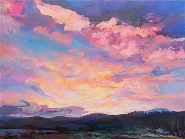 多彩的天空,新西兰女画家Carla Hananiah插图1