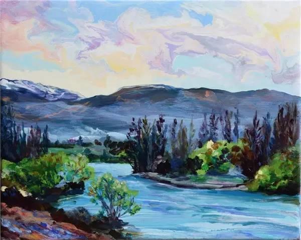 多彩的天空,新西兰女画家Carla Hananiah插图11
