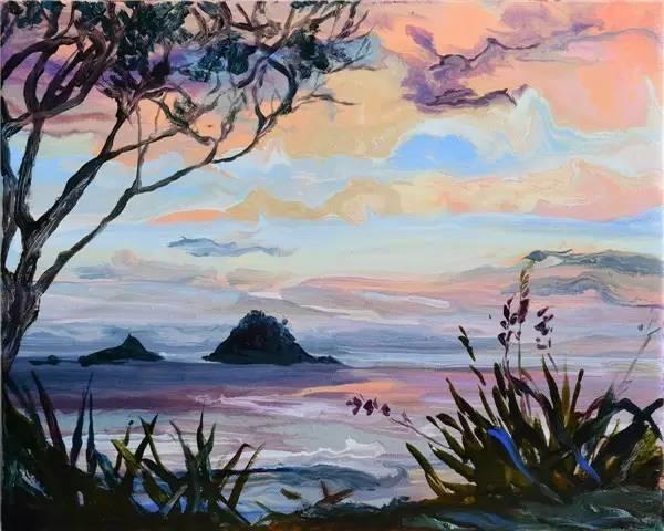 多彩的天空,新西兰女画家Carla Hananiah插图22