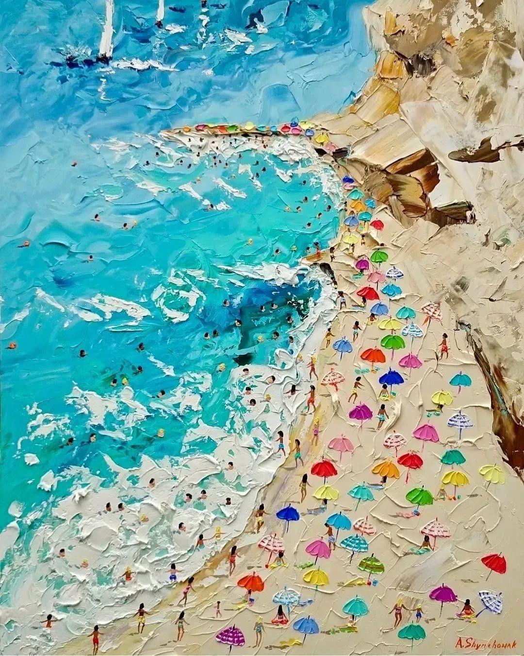 笔触大胆,用色干净利落,爱沙尼亚女画家Alena Shymchonak插图27