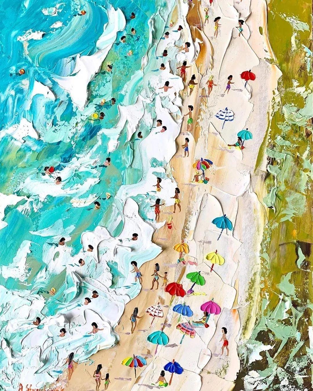 笔触大胆,用色干净利落,爱沙尼亚女画家Alena Shymchonak插图30