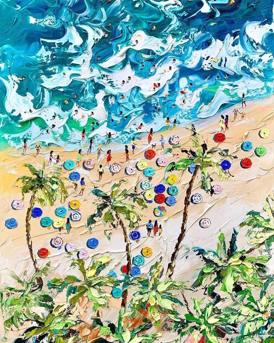 笔触大胆,用色干净利落,爱沙尼亚女画家Alena Shymchonak插图33