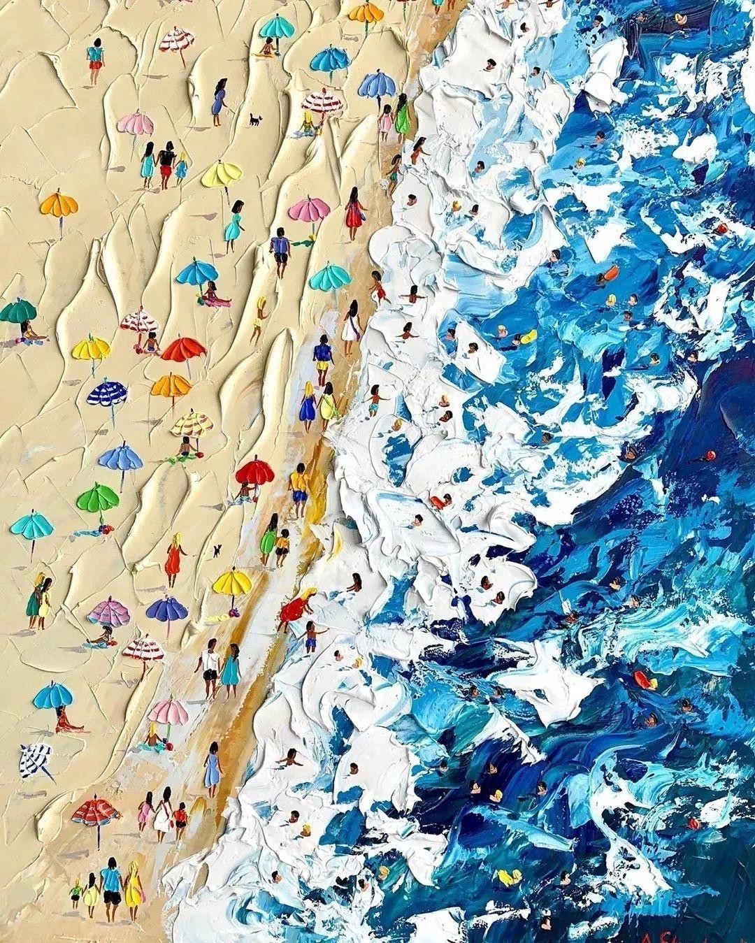 笔触大胆,用色干净利落,爱沙尼亚女画家Alena Shymchonak插图42