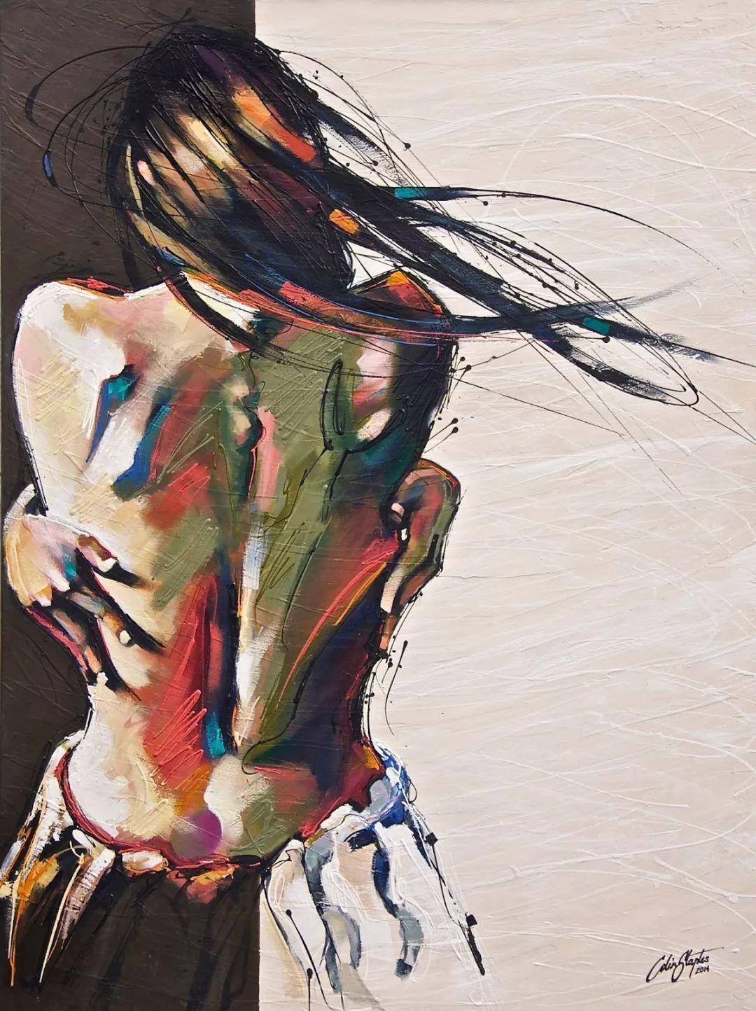 受武术影响的画风,澳大利亚画家Colin Staples插图10