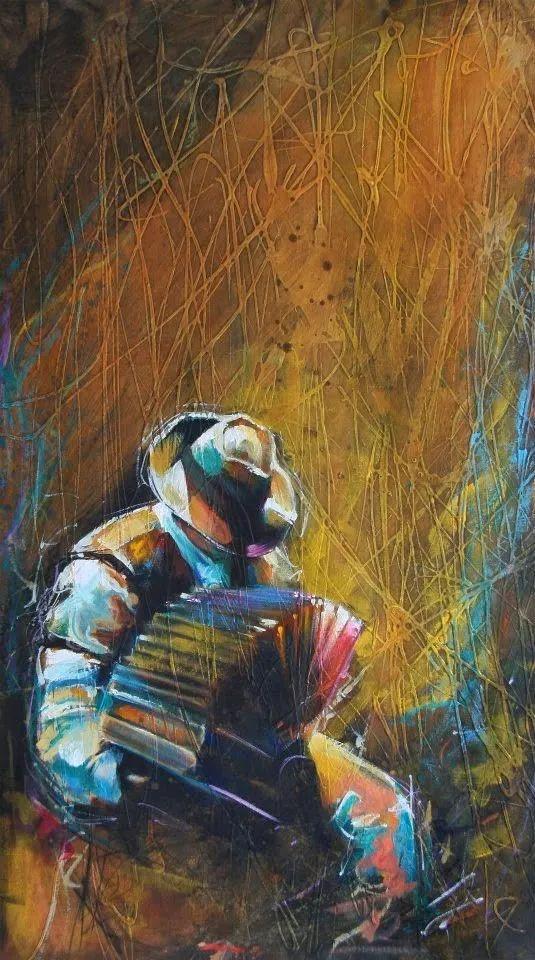 受武术影响的画风,澳大利亚画家Colin Staples插图15