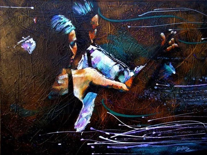 受武术影响的画风,澳大利亚画家Colin Staples插图17