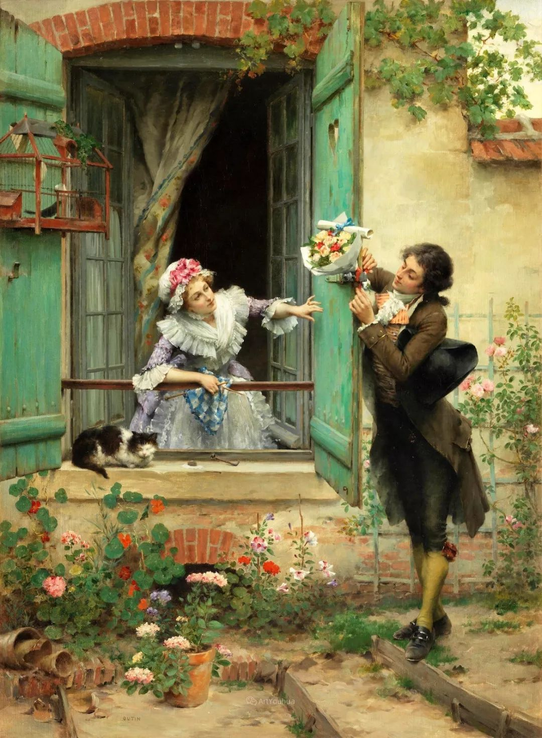 浪漫的爱情,法国艺术家Pierre Outin插图