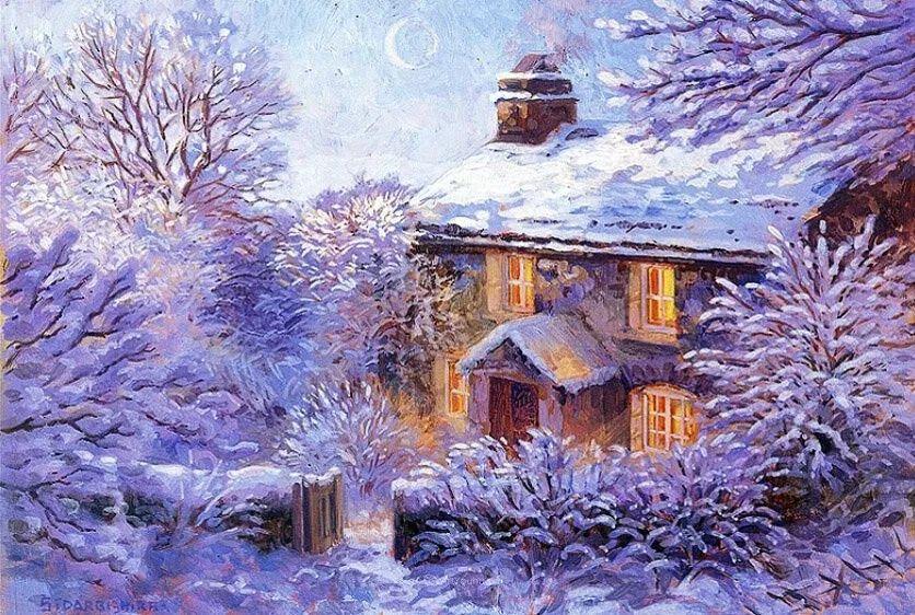 温馨的家,英国画家Stephen John Darbishire插图