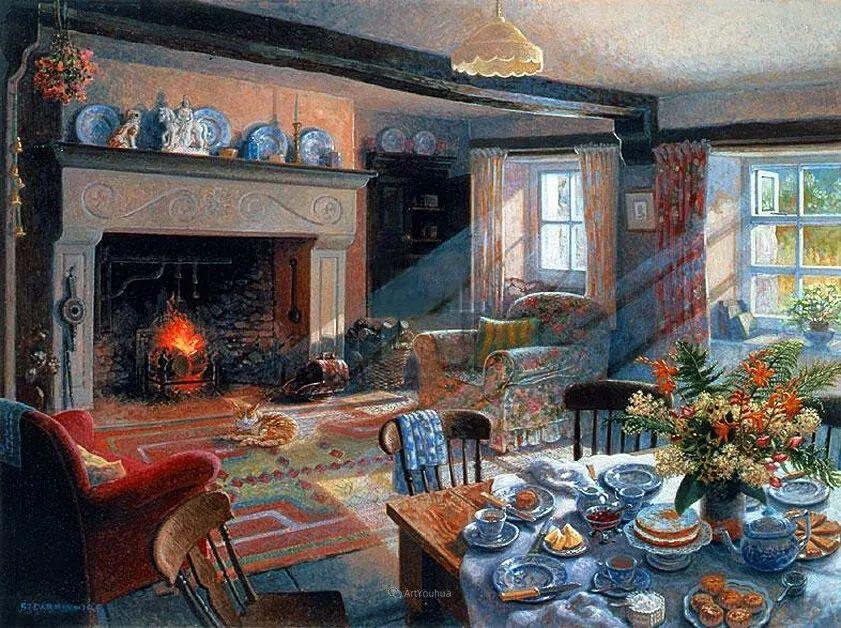 温馨的家,英国画家Stephen John Darbishire插图2