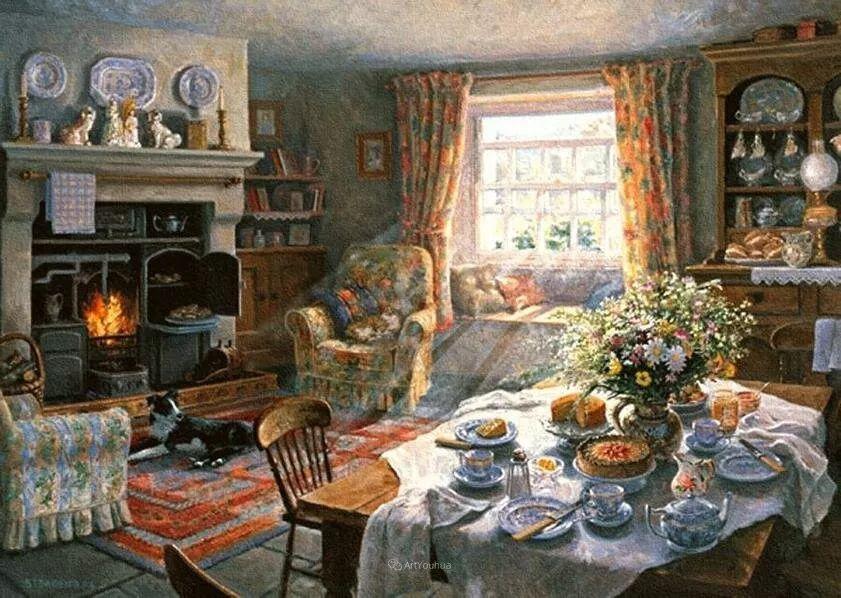 温馨的家,英国画家Stephen John Darbishire插图3