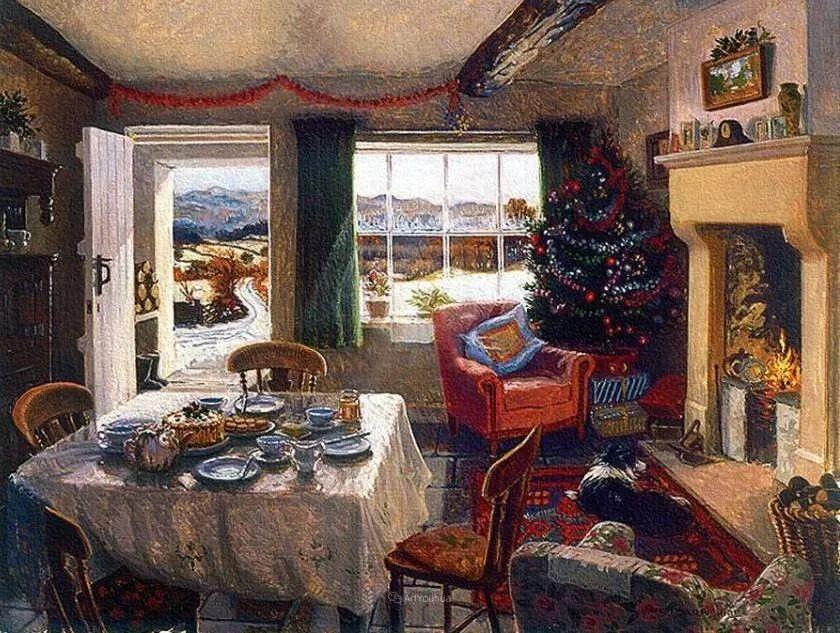 温馨的家,英国画家Stephen John Darbishire插图5