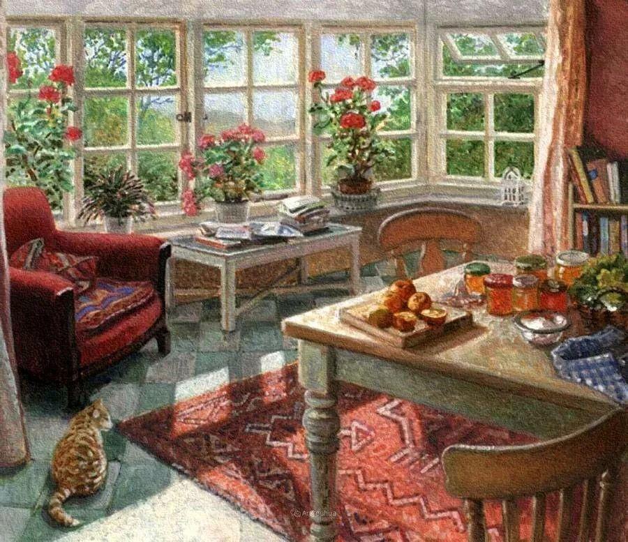 温馨的家,英国画家Stephen John Darbishire插图6